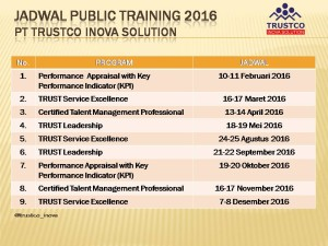 Jadwal public training 2016 new
